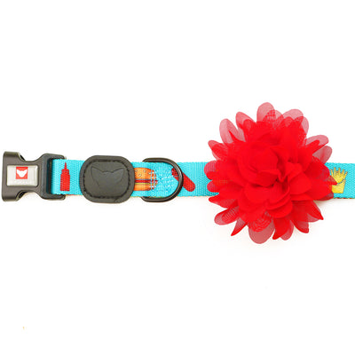Toy Doggie™ - Cherry Crimson Dog Flower Accessory