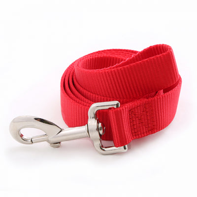 Toy Doggie™ - Deep Red Nylon Dog Leash