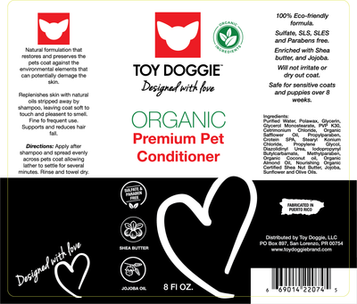 Toy Doggie™ - Hand-Crafted Hypoallergenic Dog Conditioner 8 ONZ.