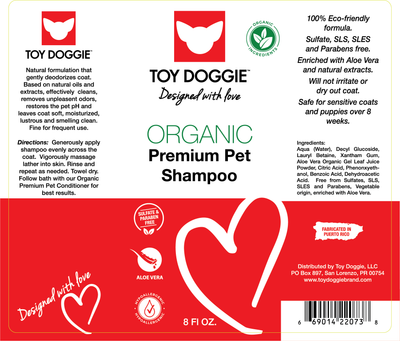 Toy Doggie™ - Hand-Crafted Hypoallergenic Dog Shampoo 8 ONZ.