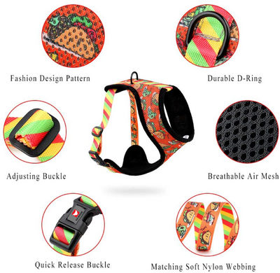 Toy Doggie™ - Tacobout Terrific! Air-Mesh Dog Harness