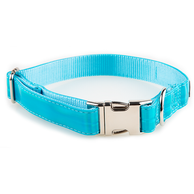 Toy Doggie™ - Holographic Blue Dog Collar | Prisma Collection