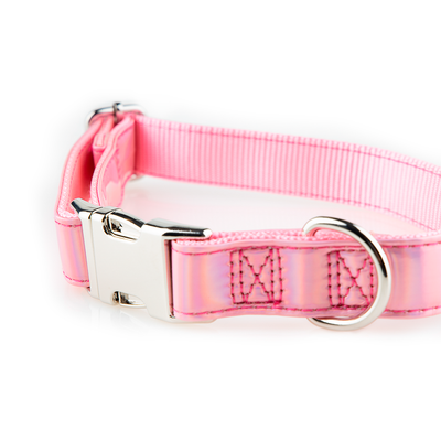 Pink Sparkle Prisma Dog Collar