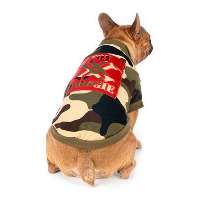 Camouflage Swag Dog Shirt
