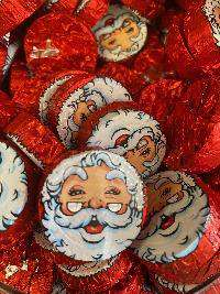 Chocolate Foiled Santas