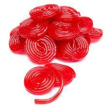 Licorice Wheels Red 1 LB