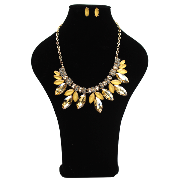 Collar Diamante Amarillo