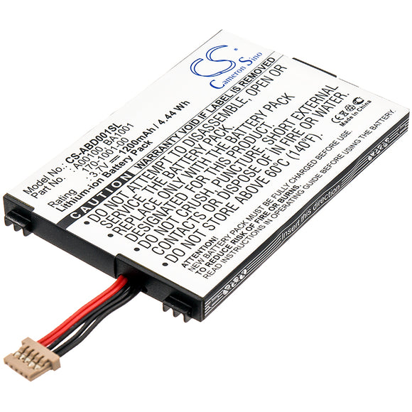 Amazon 170-1001-00, A00100, BA1001 Replacement Battery For Amazon Kindle D00111, - vintrons.com