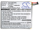 ACER AP14E4K, AP14E4K (1ICP4/86/94), AP14E8K, KT.00104.001, KT.0010G.007, KT00104001 Replacement Battery For ACER Iconia One 7 B1-750, - vintrons.com
