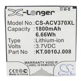 ACER JD-201212-JLQU-C11M-003, KT.0010J.008 Replacement Battery For ACER Liquid E2, Liquid E2 Dou, V370, - vintrons.com