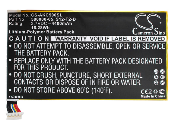 Battery For AMAZON KC5, Kindle Fire HD 2013, Kindle Fire HD 3rd, - vintrons.com