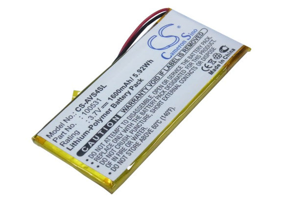 ARCHOS 100531 Replacement Battery For ARCHOS 43 Vision, 43 Vision EU, 43 Vision US, - vintrons.com
