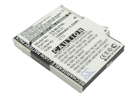 SHARP PV-BL51, / T-MOBILE PV-BL51 Replacement Battery For SHARP EM-One S01SH, / T-MOBILE 2009, PV300, Sidekick LX, - vintrons.com
