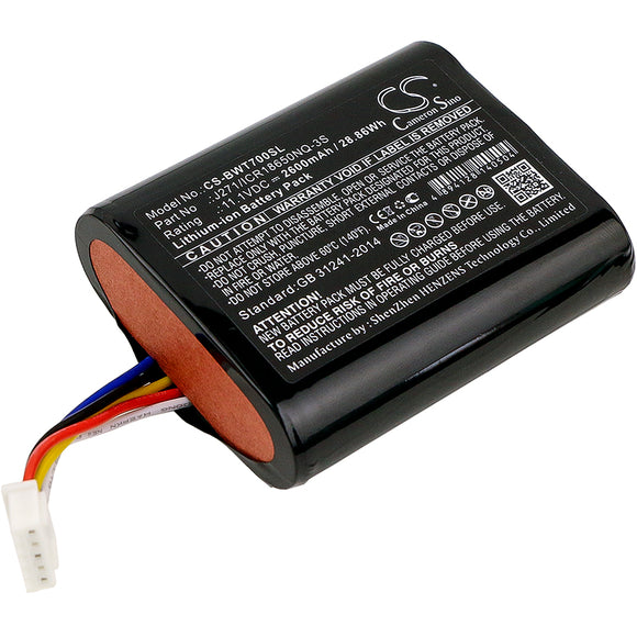 BOWERS & WILKINS J271/ICR18650NQ-3S Replacement Battery For BOWERS & WILKINS T7, - vintrons.com