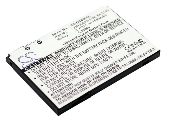 Battery For DOPOD C800, C858, / HTC Atlas, Herald 100, P4350, P4351, - vintrons.com