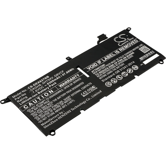 Battery For DELL XPS 13 2018, XPS 13 9370, XPS 13 9370 FHD i5, - vintrons.com