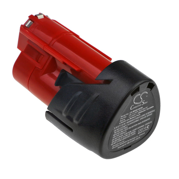 Milwaukee 48-11-2402 Battery Replacement For Milwaukee C12 FM, - vintrons.com