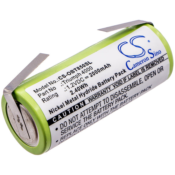 Replacement Battery For ORAL-B Triumph 4000, - vintrons.com