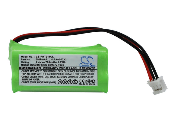 Battery For PHILIPS 215 Quattro, Aleor 300, DECT 211, DECT 215, - vintrons.com