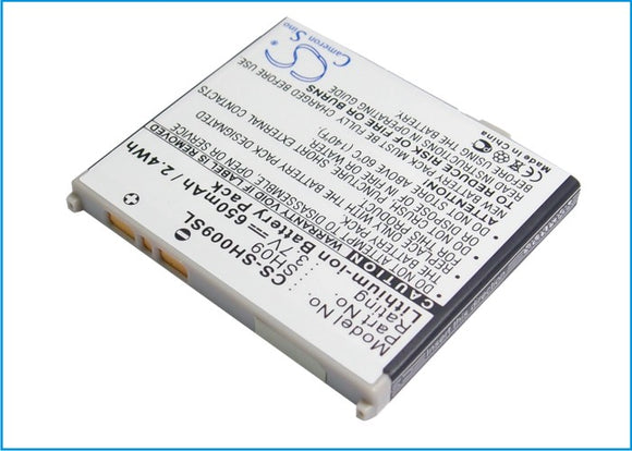 SHARP SH09 Replacement Battery For SHARP SH902ISL, SH903i, - vintrons.com