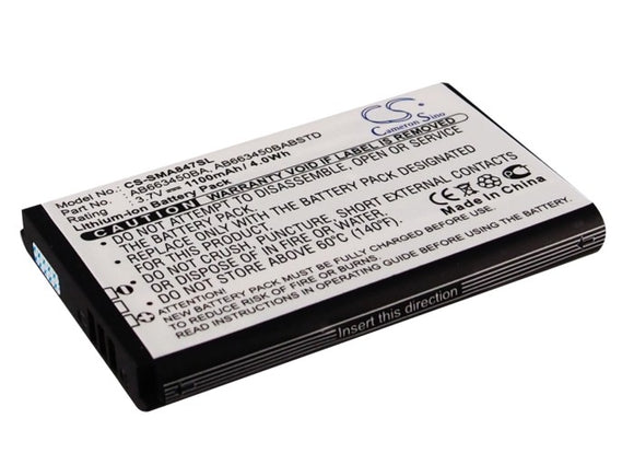 SAMSUNG AB663450BA, AB663450BABSTD Replacement Battery For SAMSUNG Rugby II, Rugby II A847, Rugby III, SGH-A847, SGH-A997, - vintrons.com