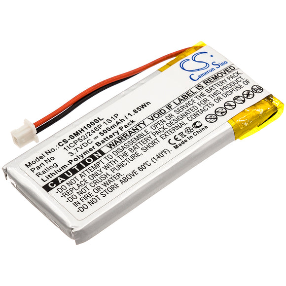 SENA 1ICP52/248P 1S1P Replacement Battery For SENA SMH-10, SMH-10 Lifespan, - vintrons.com