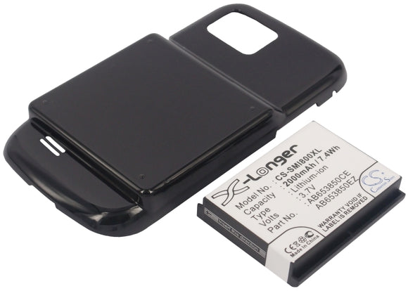 SAMSUNG AB653850CE, AB653850CU, AB653850EZ Replacement Battery For SAMSUNG GT-I8000, GT-I8000H, - vintrons.com