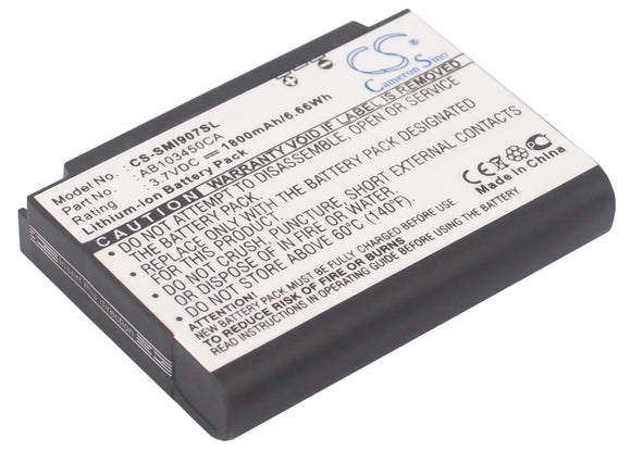 SAMSUNG AB103450CA Replacement Battery For SAMSUNG Access A827, Ace i325, BlackJack i607, Blackjack SGH-i607, Epix SGH-i907, Eternity A867, - vintrons.com