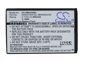 Battery For SAMSUNG DoubleTake, Glyde 2, Intensity II, - vintrons.com