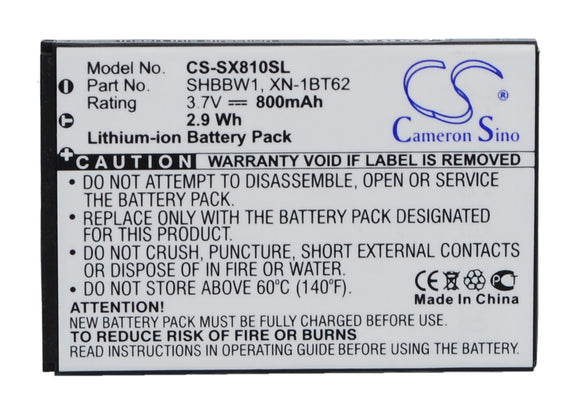 Battery For SHARP 8010C, 825SH, 9010, SH6010C, SH6018C, SH8010, - vintrons.com
