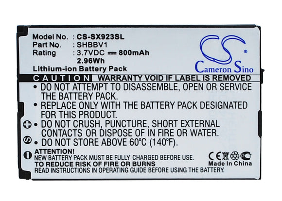 SHARP SHBBV1 Replacement Battery For SHARP 9020C, 923SH, - vintrons.com