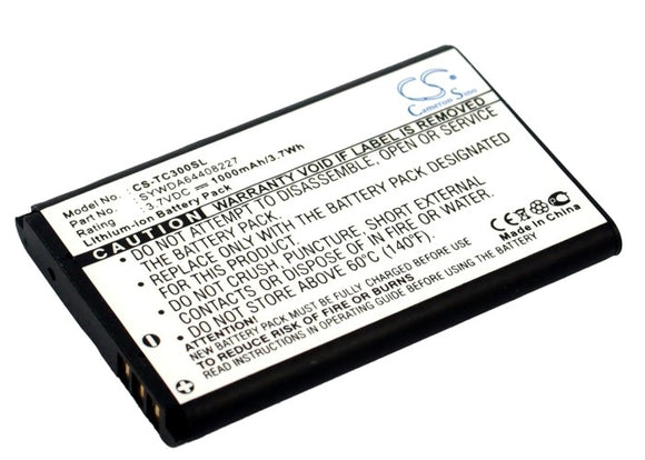 T-COM SYWDA64408227 Replacement Battery For ARCOR Pirelli Twintel DP-L10, / T-COM TC300, - vintrons.com
