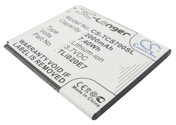 TCL TLi020B2, TLi020D2, TLi020E1, TLi020E7, TLi020JD Replacement Battery For TCL J620, S700T, - vintrons.com