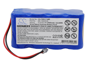 TERUMO 8N-1200SCK Replacement Battery For TERUMO infusion pump TE-171, infusion pump TE-172, TE-171, TE-172, - vintrons.com