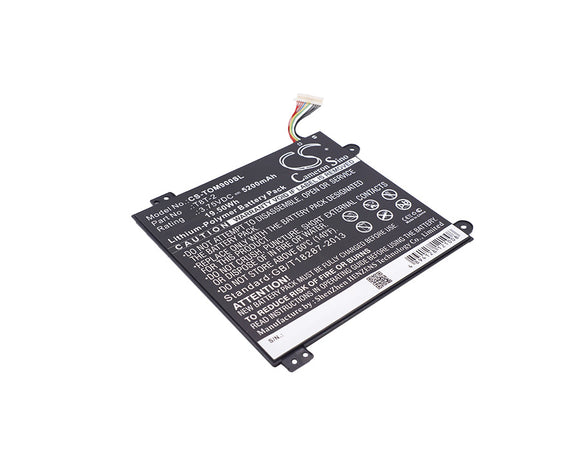 TOSHIBA T8T-2 Replacement Battery For TOSHIBA Satellite Click Mini L9W-B, Satellite Click Mini L9W-B 8.9