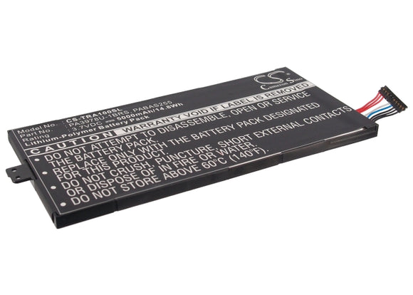 TOSHIBA PA3978U-1BRS, PABAS255 Replacement Battery For TOSHIBA Regza AT1S0, Thrive 7, - vintrons.com