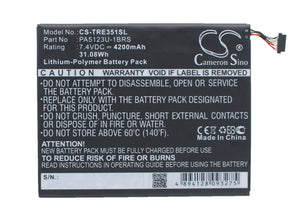 TOSHIBA PA5123U-1BRS Replacement Battery For TOSHIBA AT10LE-A-108, AT15LE-A32, Excite Pro, Excite Pro 10.1, - vintrons.com