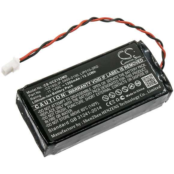 Battery For VERATHON 0400-0100, 0800-0404, CZ192LIP, - vintrons.com