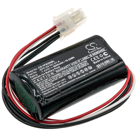 VERIFONE BPK169-001-01-A Replacement Battery For VERIFONE PCA169-001-01, PCA169-404-01-A, Ruby 2, Ruby CI, - vintrons.com