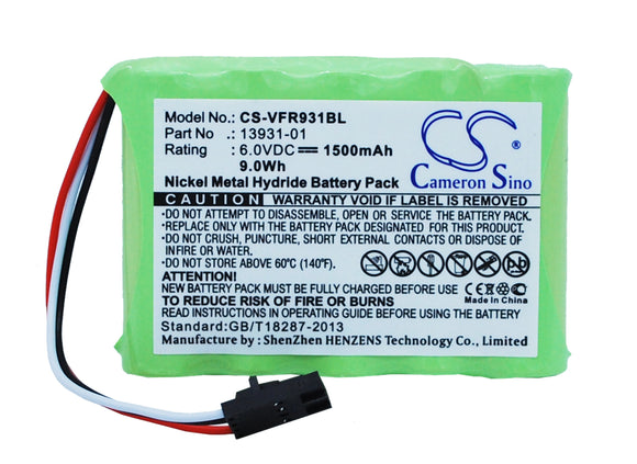 VERIFONE 13931-01 Replacement Battery For VERIFONE Ruby Console, - vintrons.com