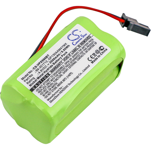 Battery For VISONIC PowerMaster 10, PowerMax 99-301712 Control Panel, - vintrons.com