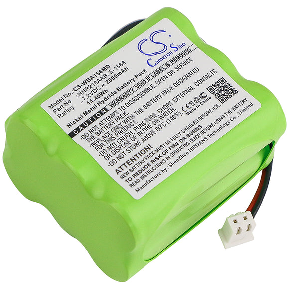 WEIGHING 88889009, E-1566, HHR210AAB Replacement Battery For WEIGHING Baby Baby One WUNDER, bedscale Baby ONE ABILANX, bedscale Baby One WUNDER, - vintrons.com