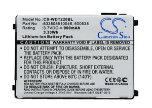 Battery For WASP RS-232, WDT2200, - vintrons.com