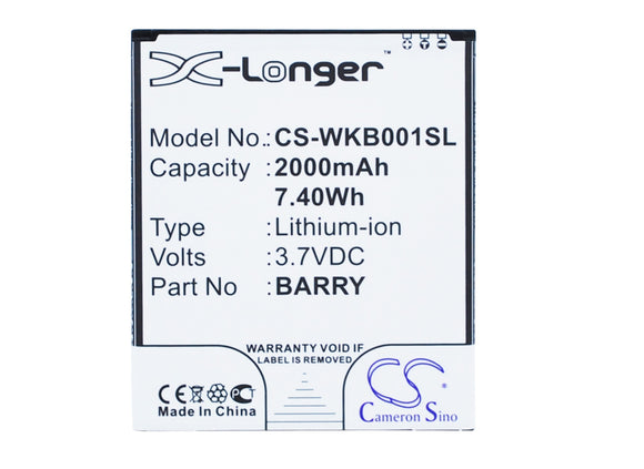 WIKO BARRY Replacement Battery For WIKO Barry, Barry Dual SIM, - vintrons.com