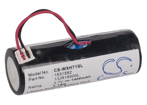 WELLA 1/UR18500L, 1531582 Replacement Battery For WELLA Xpert HS71, Xpert HS71 Profi, Xpert HS75, - vintrons.com