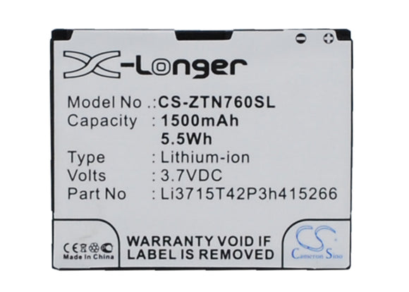 Battery For AT&T Avail, N760 Roamer, Z990, / NET10 Valet, Z665, Z665C, - vintrons.com