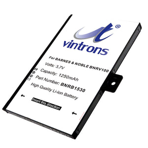 Battery For BARNES & NOBLE 005, BNRV100, BNRZ100, nook, NOOK Classic, - vintrons.com