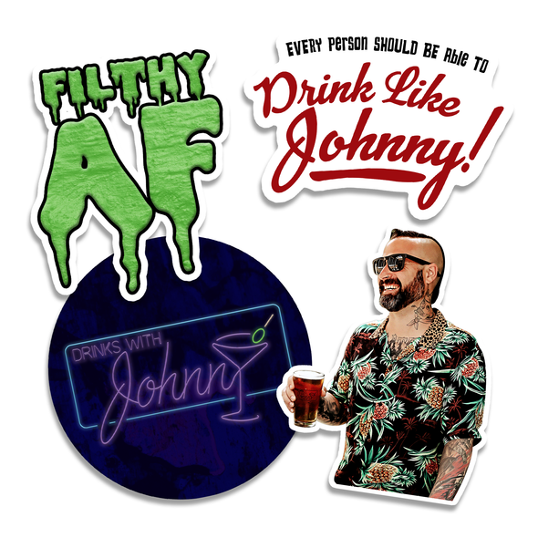 Drink Like Johnny Sticker Pack