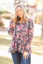 Load image into Gallery viewer, Flirty Floral Ruffled Waffle Knit