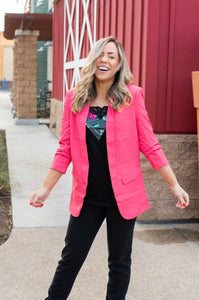 Cheerful Coral Blazer